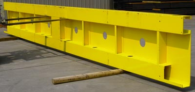 Large deck plate - laser operations, machining operations and welding operations